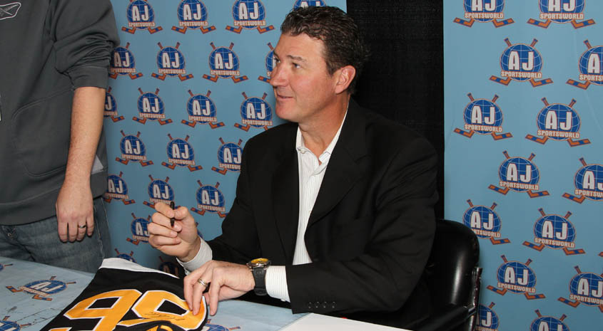 Mario Lemieux - A.J. Sports World - Private Signing
