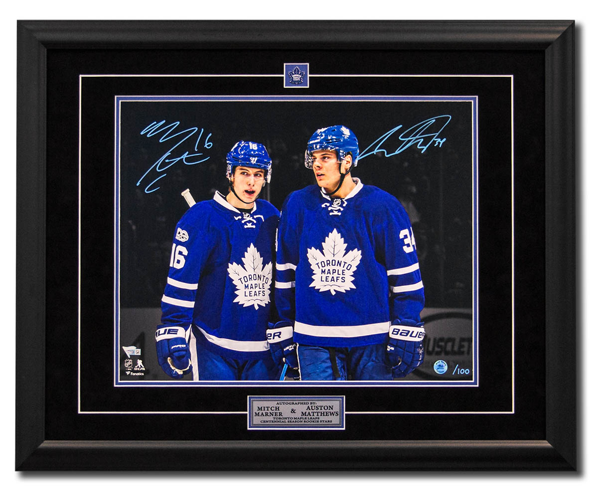 Mitch Marner & Auston Matthews - A.J. Sports World - New Frames