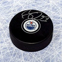 Connor McDavid Edmonton Oilers Signed Puck