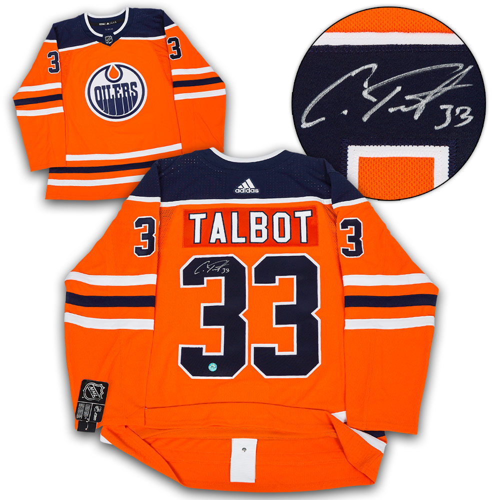 ... low price new cam talbot edmonton oilers autographed adidas authentic  hockey jersey ba1d5 21e05 8b10f58d1