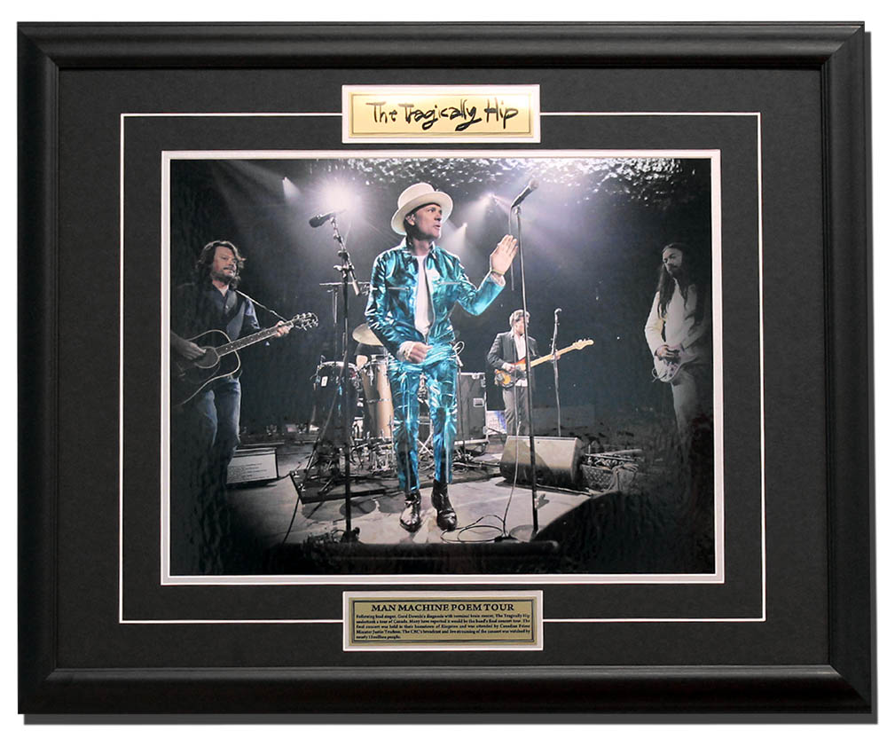 The Tragically Hip Man Machine Poem Tour 22x26 Custom Wood Frame