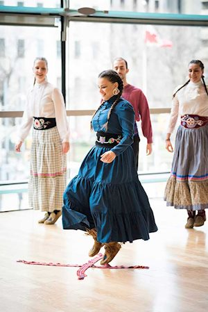 V'ni Dansi's Louis Riel Metis Dancers, photo: Kevin Lloyd
