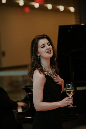 COC Ensemble Studio Member Simone McIntosh performs at the Live Auction, photo: Gaetz Photography