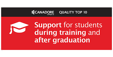 Support for students during training and after graduation