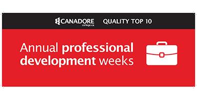 Annual professional development weeks