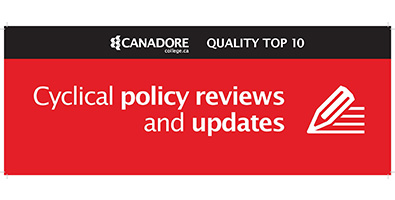 Cyclical policy reviews and updates