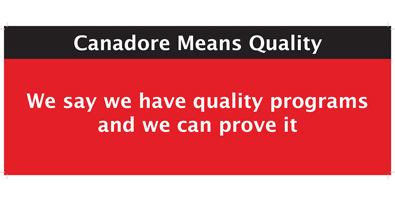 We have quality programs and we can prove it