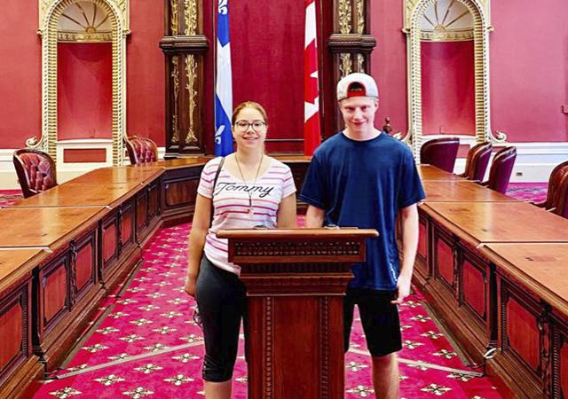 Jennifer Maccarone's children Bianca and Samuel visit the National Assembly.