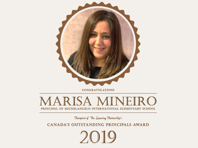 Image of Marisa Mineiro with congratulatory text