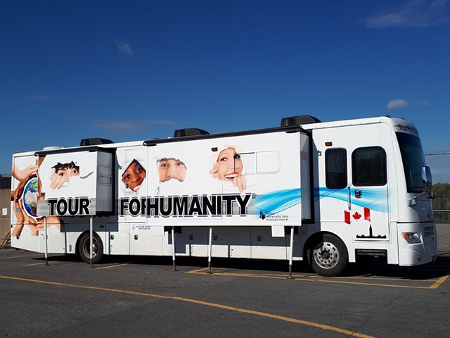tour for humanity bus
