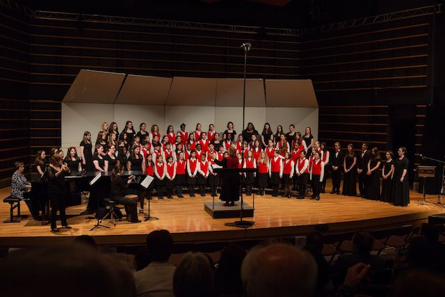 EMSB Chorale performing at their 2015 end-of-year concert.
