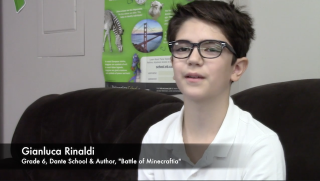 Grade 6 student Gianluca Rinaldi from Dante Elementary School