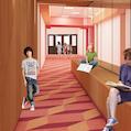 drawing of hallway