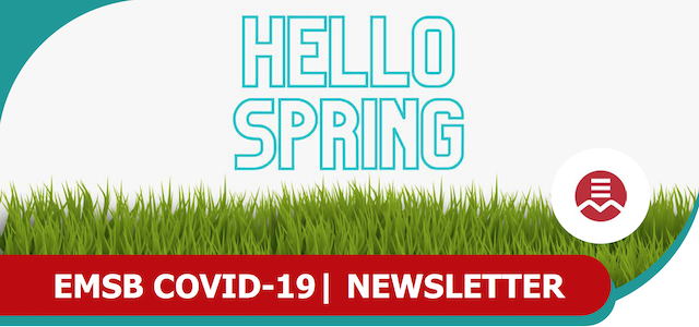 hello spring - parents newsletter cover