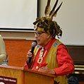 first nation elder man speaking