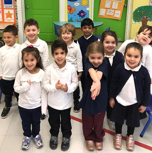 group of elementary students