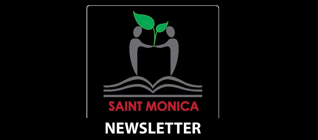 saint monica logo newsletter