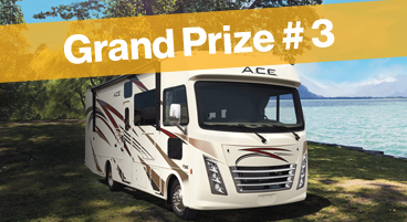 W19 - Grand Prize #3 Winner - Thor Ace 30.3 RV or $130,000 Cash