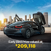 Early Bird Prize valued at $209,118