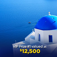 VIP Prize #1 valued at $12,500