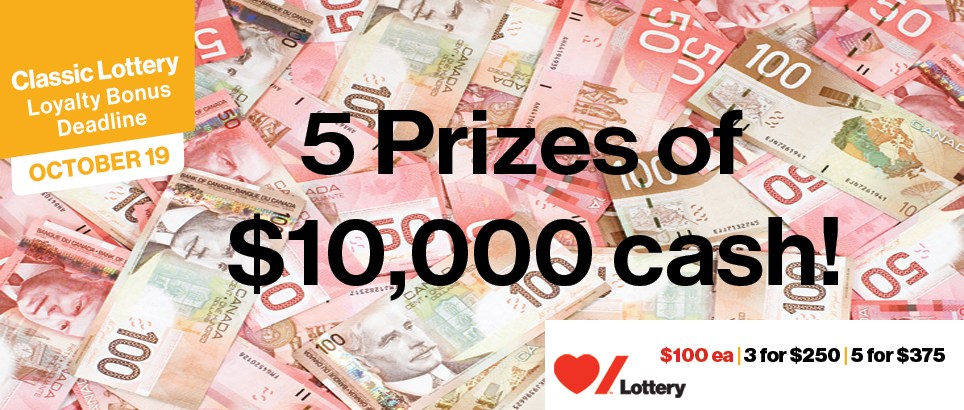 Five Extra Prizes to WIN! Total Value of $50,000!