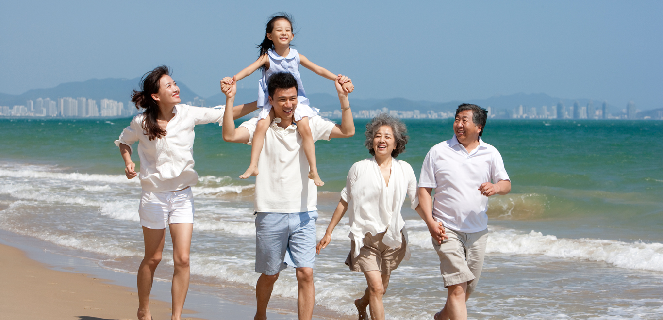 Heart and Stroke Lottery Winners Enjoying Family Time on beach