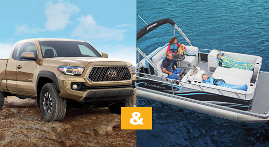 Toyota Tacoma and Legend Boat