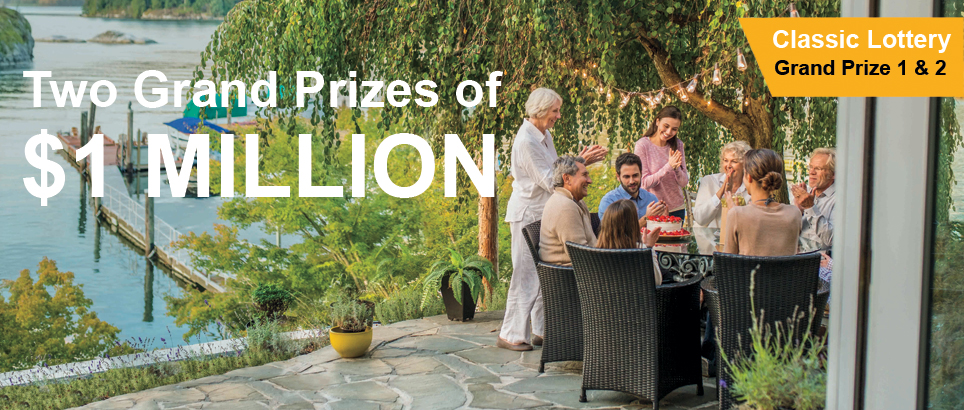 Two grand prizes of one million dollars!
