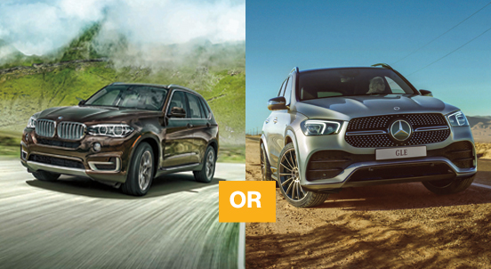 Mercedes-Benz GLE450 AMG SUV or BMW X5 XDrive