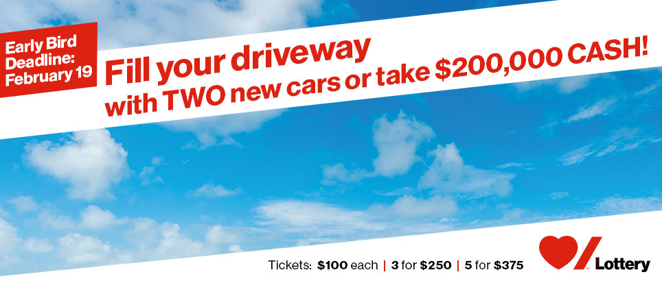 Fill your driveway with TWO new cars or take $200,000 CASH!