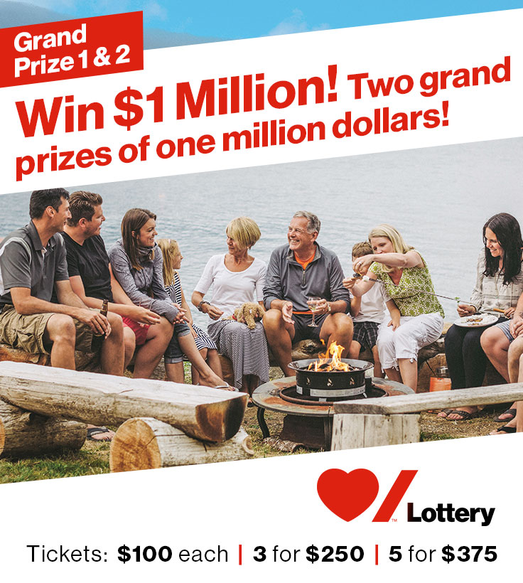 Win $1 Million! Two grand prizes of one million dollars!