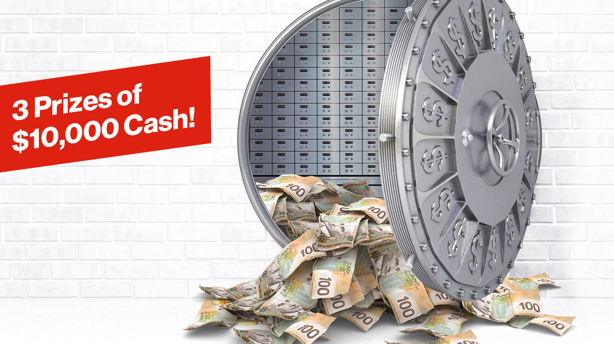 3 Prizes of $10,000 Cash!