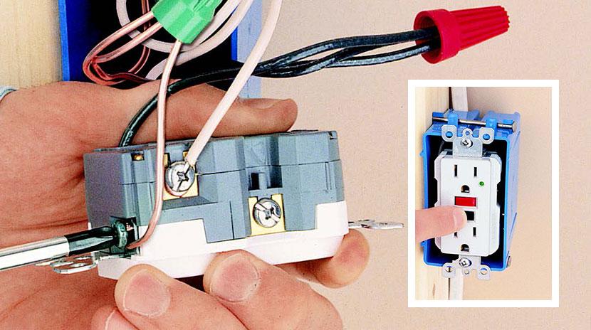 installing a gfci receptacle image description