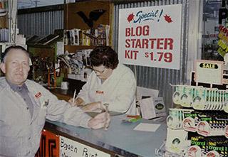 Man and woman at McLendon counter