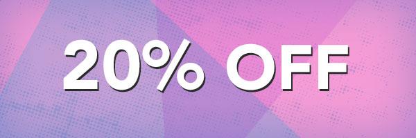 20% off all regular-price items