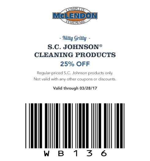 25% Off S.C. Johnson Cleaning Products