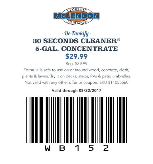 30 SECONDS CLEANER® 5-GAL. CONCENTRATE