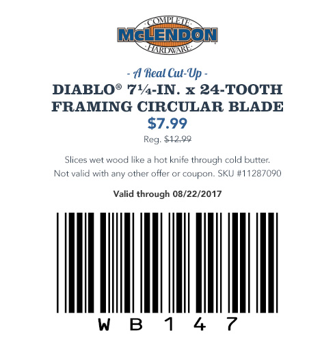 Diablo® Framing Circular Blade Coupon