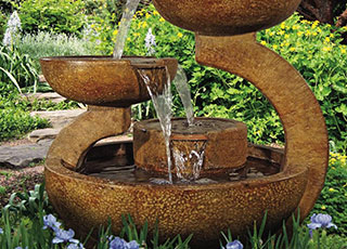 Water features, ponds, fountains, irrigation and watering tips