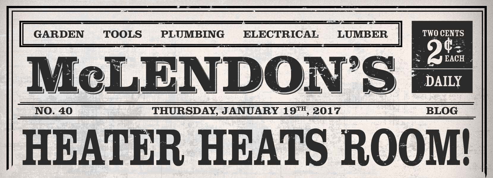 Heater Heats Room!
