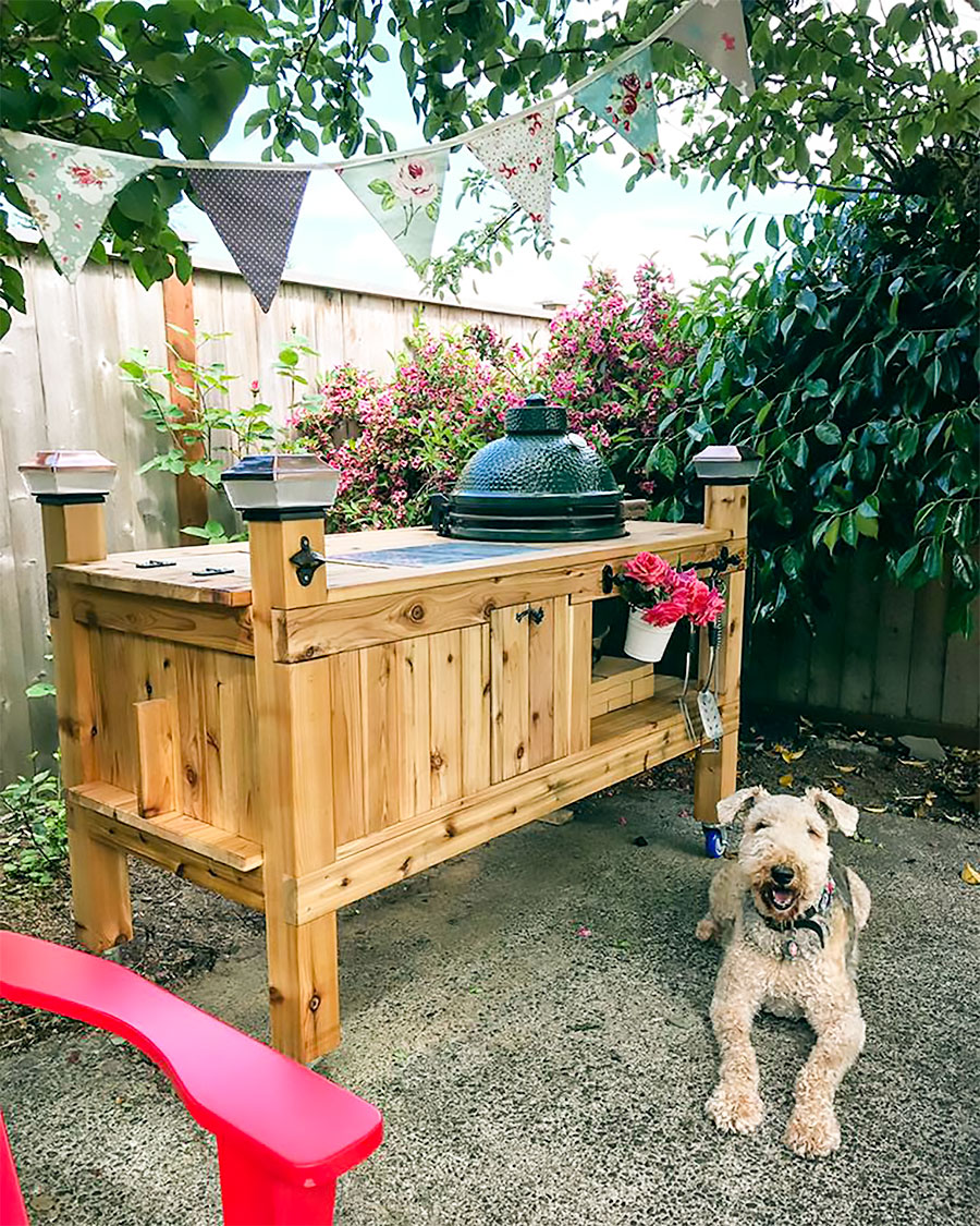 Barbecue, pennants & a pup