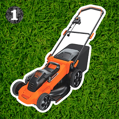"Black+Decker 20"" 13-amp corded electric mower"