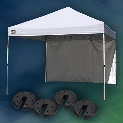 QUIK SHADE 10x10 Canopy & Canopy Weight Plates