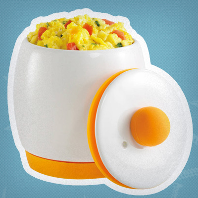 Treat yourself to a one-minute, one-dish breakfast with an Egg-Tastic® Microwave Egg Cooker