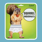 Don't like squirrels in the nude? You'll enjoy Archie McPhee's Squirrel Underpants