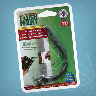 Hang pictures in drywall—no tools needed—with Monkey Hook® Drywall Picture Hangers