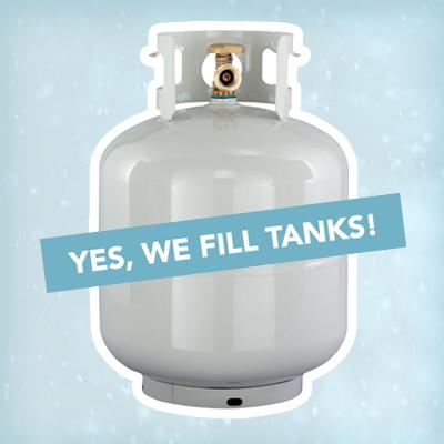 Propane cylinder tank