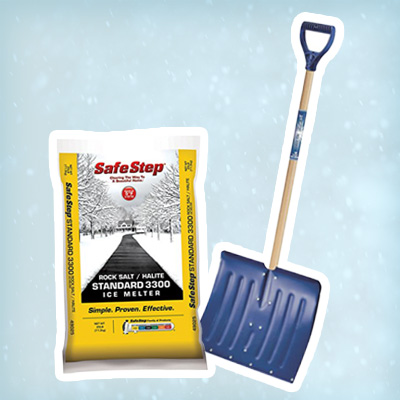 Rock Salt and a snow shovel