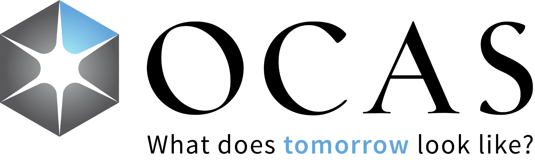 OCAS Logo with tagline: What does tomorrow look like