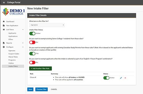 Intake Filter Details